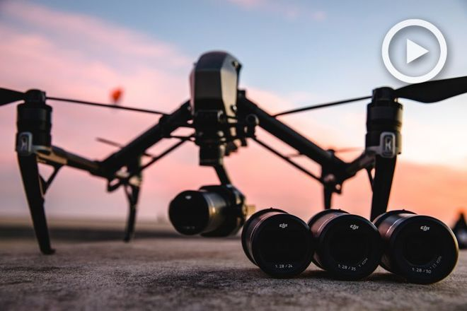 DJI Inspire 2/x7 camera and 4 lens package with FAA operator