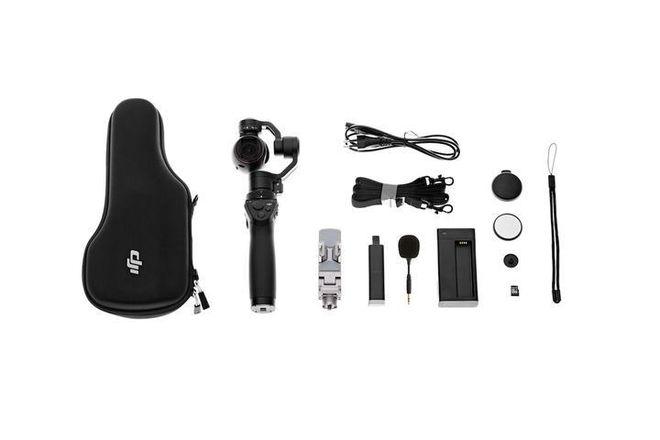 DJI Osmo X3 + Z-Arm + Bike Mount + Car Suction Cup Mount