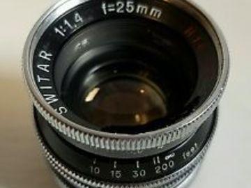 Rent: 3 x Kern Paillard C Mount prime lenses