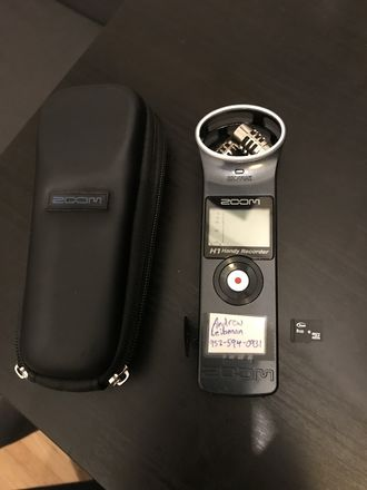 Zoom H1 recorder
