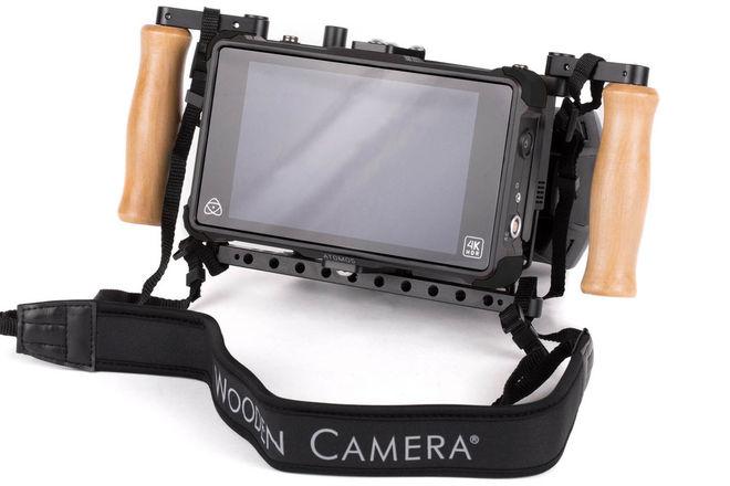 """Wooden Camera Director's Monitor 7"""" Shogun SDI w Gold Mount"""