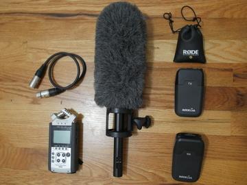 Rent: Zoom H4n, Sennheiser ME66+K6, Rode Filmmaker Kit