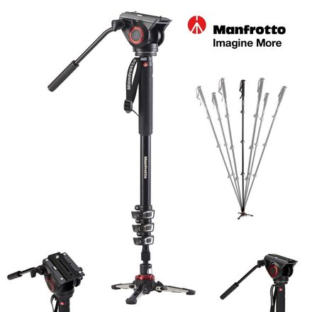 Manfrotto MVMXPRO500 XPRO Aluminum Video Monopod with 500 Se
