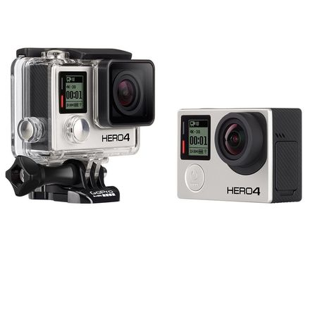 GoPro HERO4 Black 4K Extra Batteries LCD Screen Suction Cup