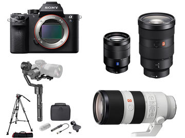 Rent: Sony Alpha a7S II FULL KIT: x3  Lens + Gimbal + Tripod + Mic