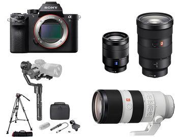 Sony Alpha a7S II FULL KIT: x3  Lens + Gimbal + Tripod + Mic