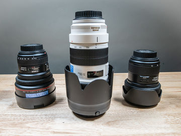 Rent: Canon Full Range Lens Kit!!!! 11-24, 24-70, 70-200