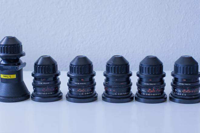 Zeiss Superspeed 16mm kit (9.5,12,16,25,50) + 5.7mm Kinoptik