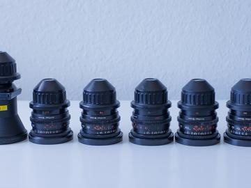 Rent: Zeiss Superspeed 16mm kit (9.5,12,16,25,50) + 5.7mm Kinoptik