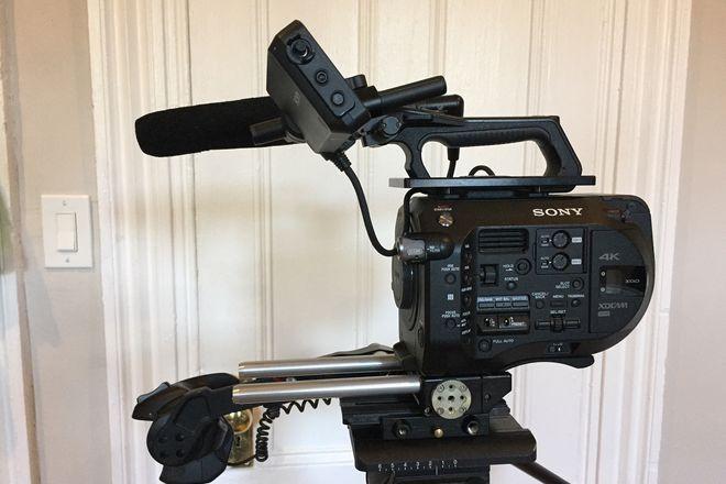 Sony FS7 4k camera, shotgun mic, and mount of choice