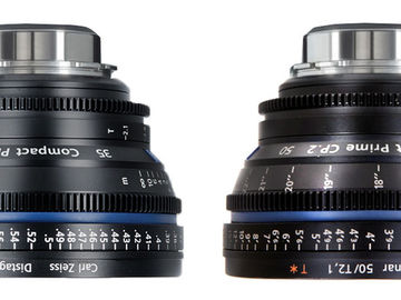 Rent: Zeiss  Compact Prime CP.2 Lens Set (Out-of-Towners Special)