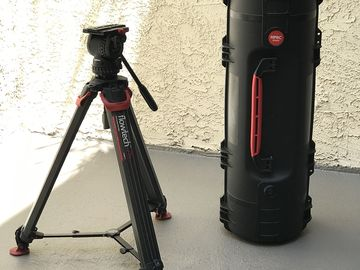 Sachtler FSB-8 flowtech 75 with rolling hard case