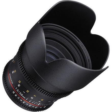 Rokinon 50mm T1.5 EF lens