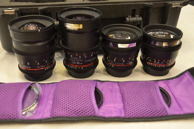 Rokinon Cine Lens Set 24mm, 35mm, 50mm, 85mm