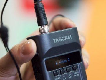 Rent: Two  Tascam DR-10L Digital Audio Recorder w/ Lavalier Mic