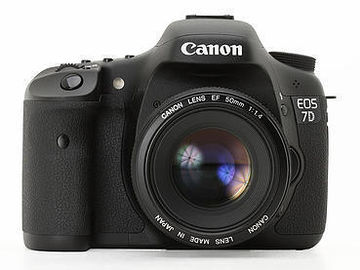 Rent: Canon EOS 7D with batteries and media