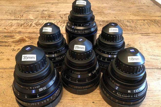 6  Zeiss  CP.2 Lens Set (18mm, 28mm,35mm, 50mm,85mm, 100mm)