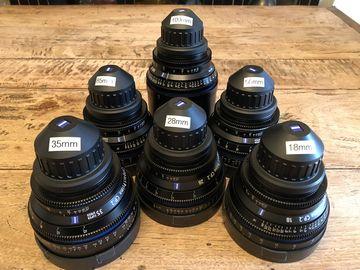 Rent: 6  Zeiss  CP.2 Lens Set (18mm, 28mm,35mm, 50mm,85mm, 100mm)