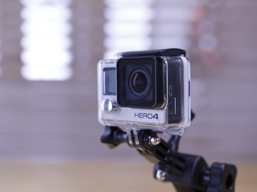 GoPro Hero 4 with glass mount