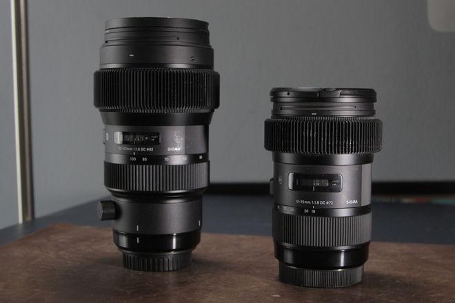 Sigma 18-35mm f/1.8 DC HSM Art and 50 - 100 1.8