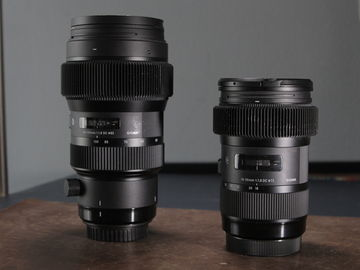 Rent: Sigma 18-35mm f/1.8 DC HSM Art and 50 - 100 1.8