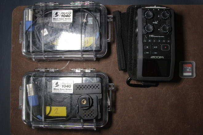 Zoom H6 with 2 Sennheiser Lavs