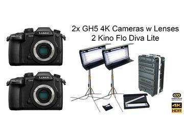 Rent: Panasonic 2x GH5 4K  Kino Flo Diva Lite Interview Package II