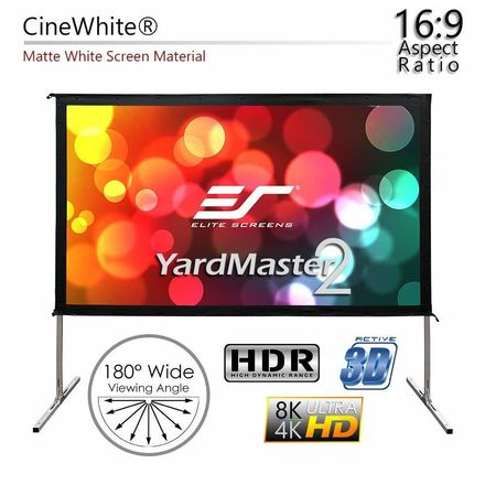 Elite Screens Yard Master 2, 135-inch 16:9, Foldable Outdoor