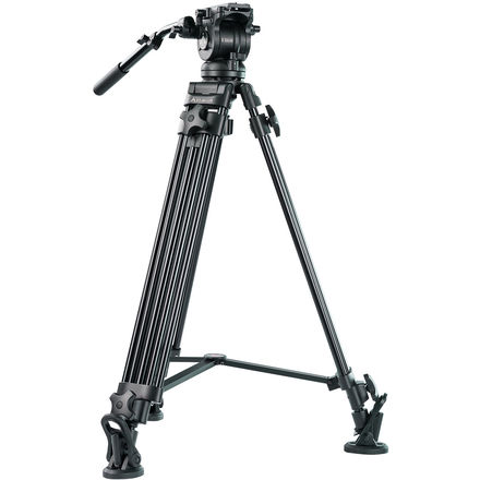 Two-Stage Aluminum Tripod with EH60 Head & Tripod Dolly Kit