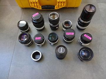 Rent: Vintage 1960s Nikon Nikkor Prime Set and zoom