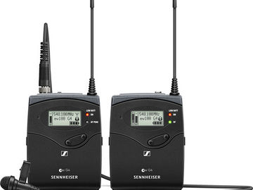 Rent: Sennheiser G4 Wireless Lav Kit (4 of 4 sets) A: 516 to 558