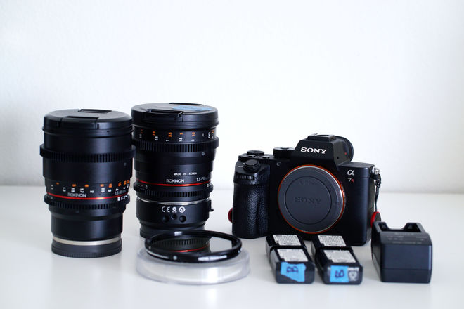 Sony Alpha a7R II Mirrorless Camera + Lenses + Variable ND