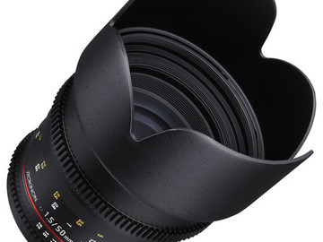 Rent: 50mm T1.5 Cine DS Lens for Canon EF Mount Rokinon