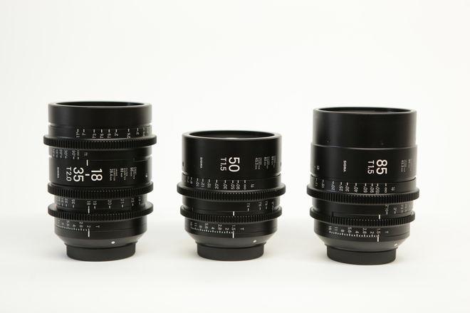 Sigma Cine Lenses 18-35, 50 and 85 EF Mount