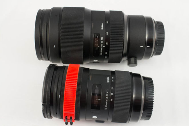 Sigma 18-35mm and 50-100mm  f/1.8 DC HSM Art Lens Set