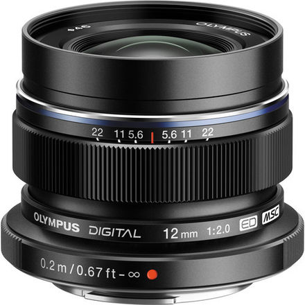 Olympus Digital ED 12mm f/2 lens w/ variable ND filter
