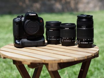 Rent: Canon EOS Rebel T5i w/ Battery Grip & 10-18, 18-55, 55-250