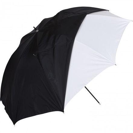 "2 Westcott 45"" White Satin Umbrellas (Removable black cover)"