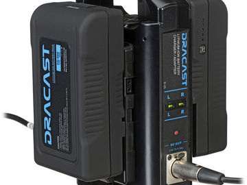 Rent: 2 Dracast V Mount Batteries w/ Charger