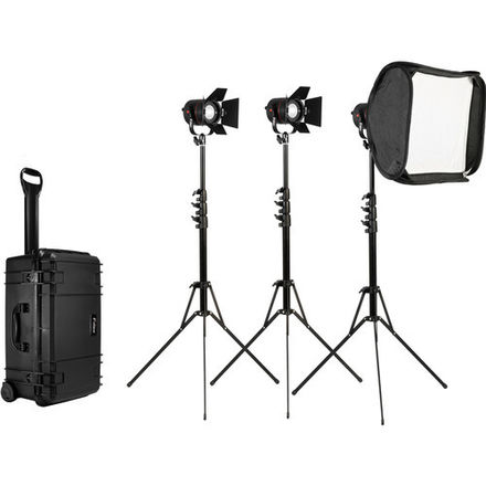 Fiilex 302 3-Light Kit with lenses and battery adapter