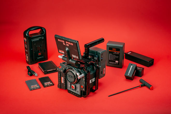 RED Scarlet-X 4K Camera Kit w/  Cage, Cards, LCD, Tripod