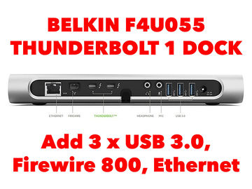 Rent: Belkin F4U055 Thunderbolt Dock