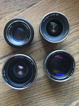 Zeiss ZE EF mount CINE Lens Set