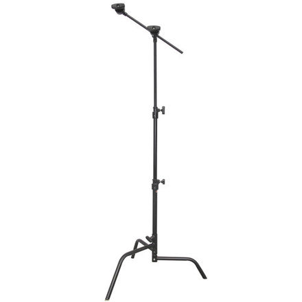 "Matthews 20"" black C-stands w/grip arm and alpine leg (2 @ 1"