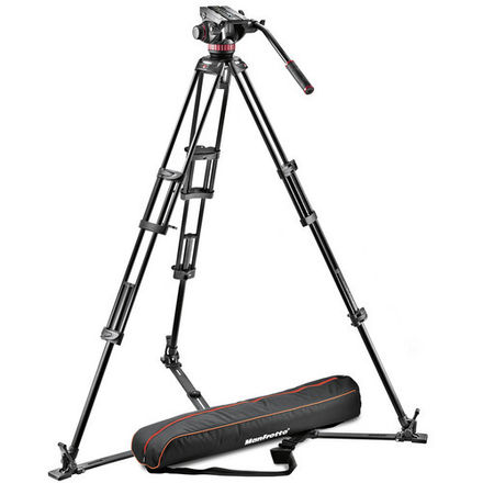 Manfrotto MVH502A and 546GB-1 Fluid Head Tripod