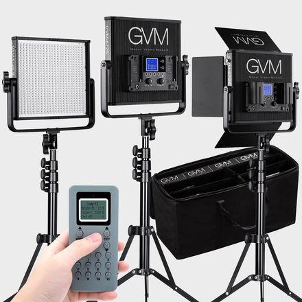 GVM LED Lighting kit ( 3 x 672S )