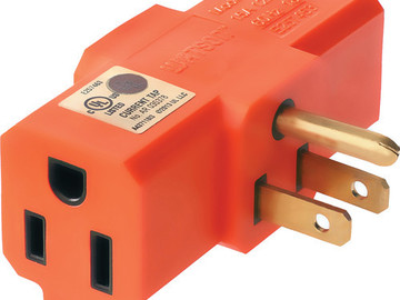 Rent: 3-Way Outlet Adapter Orange
