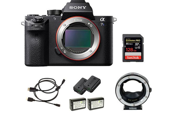 Sony a7S II w/ Card, Batteries, EF Mount