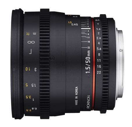 Rokinon Cine  50mm T1.5 EF Mount (Canon)