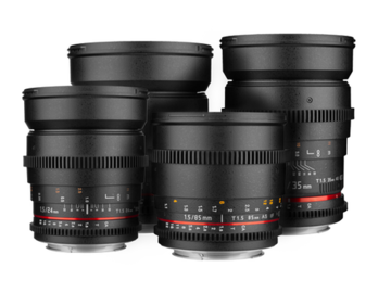 Rent: Rokinon Cine DS Prime Lens bundle (EF Mount) 16, 24, 35, 50